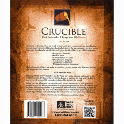 Crucible Workbook Back